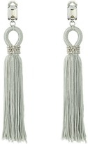 Oscar de la Renta Long Silk Tassel C Earrings Earring