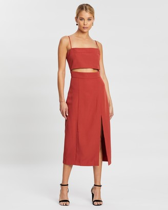 Third Form Split Up Midi Dress