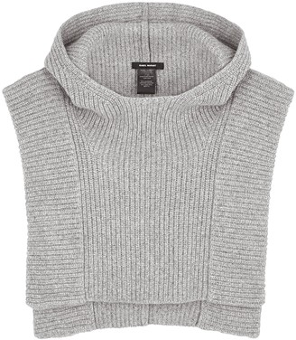 Isabel Marant Palmer Grey Hooded Ribbed Vest