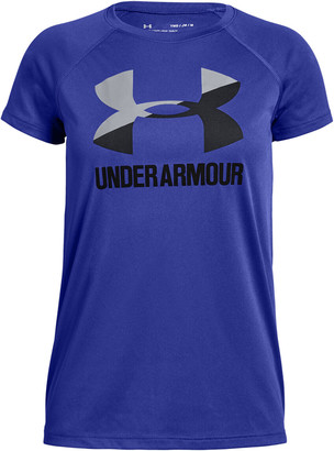 Under Armour Girls Solid Big Logo Tee