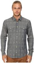 BOSS ORANGE Edaslime Print On Melange Check Yarn Slim Fit Long Sleeve Button Up Shirt w/ Vintage Bone Buttons
