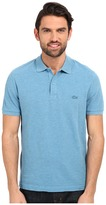 Lacoste Short Sleeve Garment Dyed Slub Pique Polo Shirt