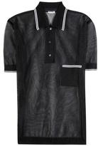 Miu Miu Semi-sheer Polo Shirt