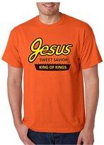 Allntrends Men's T Shirt Jesus King Of Kings Sweet Funny Christian Tee (XL, )