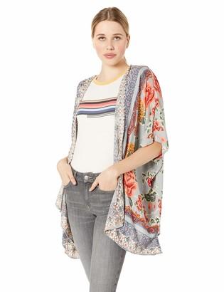 Angie Women's Printed Kimono Cardigan