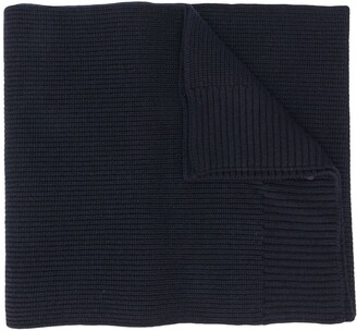 Moncler Logo Patch Ribbed Scarf
