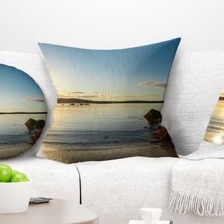 "Carter's East Urban Home Seashore Beach Nova Scotia Canada Pillow East Urban Home Size: 16"" x 16"", Product Type: Throw Pillow"
