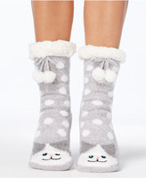 Charter Club Women's Cat Slipper Socks with Fleece and Grippers, Created for Macy's