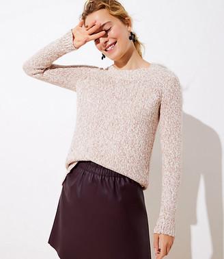 LOFT Petite Marled Hi-Lo Hem Sweater
