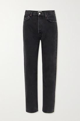 AGOLDE Net Sustain '90s Organic High-rise Straight-leg Jeans - Black