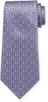 Ermenegildo Zegna Spaced Square Silk Tie
