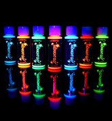 UV Neon Face & Body Paint Glow Kit (7 Bottles 2 oz. Each) Top Rated Blacklight Reactive Fluorescent Paint - Safe, Washes Off Skin, Non-Toxic, Midnight Glo