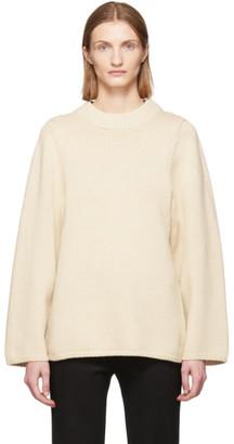Totême Off-White Wool Pomy Sweater