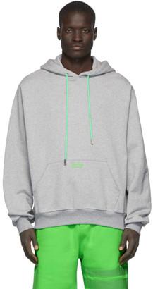 GCDS Grey Maxi Hoodie