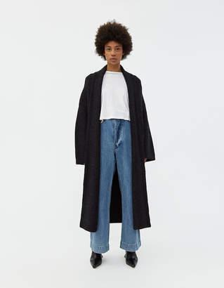 LAUREN MANOOGIAN Long Shawl Cardigan in Black Melange