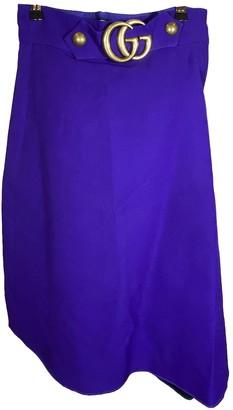 Gucci Purple Cotton Skirt for Women