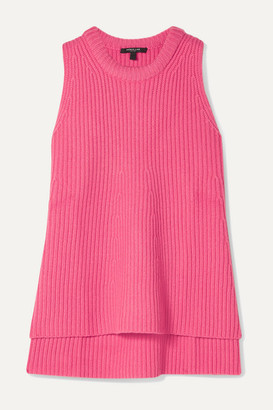 Derek Lam Ribbed Cashmere Top - Pink