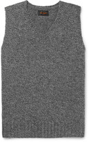 Beams Shetland Wool Sweater Vest - Charcoal