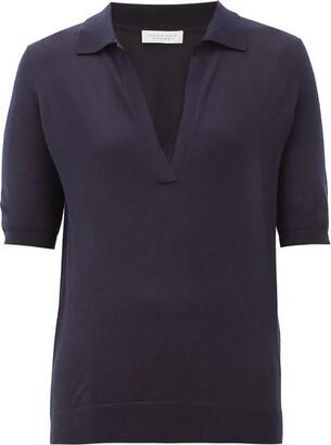 Gabriela Hearst Frank Cashmere-blend Polo Sweater - Womens - Navy