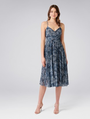 Forever New Serpentine Maxi Dress - Blue Print - 4