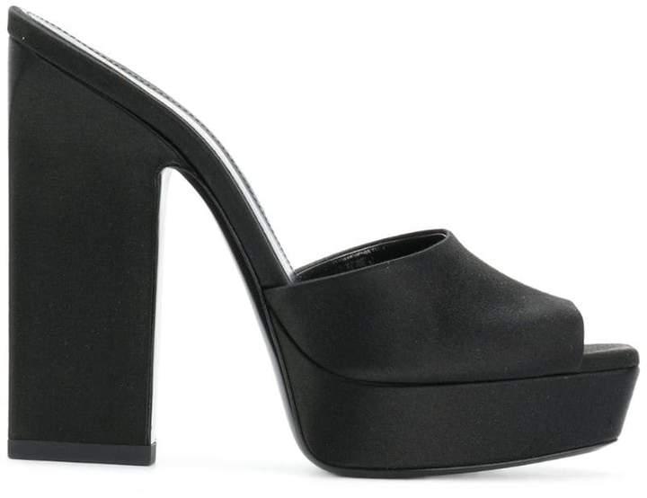 48a90d0b6f45 Black Platform Mule - ShopStyle