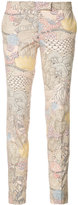 Barbara Bui embroidered skinny trousers - women - Cotton - 40