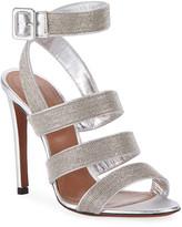 Alaia Metallic Beaded Sandals