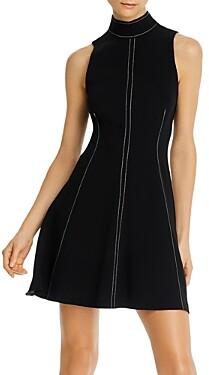Cinq à Sept Bow Neck Sleeveless Mini Dress