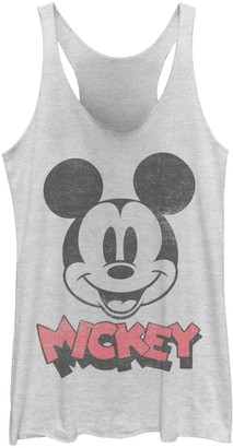 Licensed Character Juniors' Disney Mickey And Friends Mickey Big Face Logo Tank