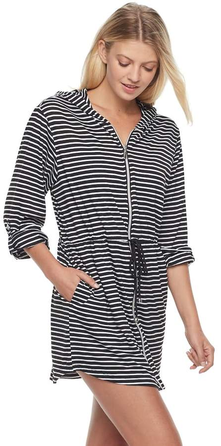 Apt. 9 Women's Striped Jersey Cover-Up