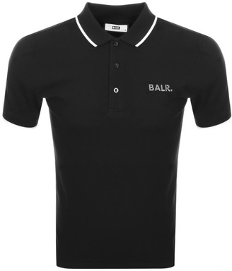 BALR Brand Metal Short Sleeve Polo T Shirt Black