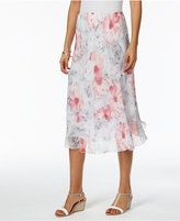 Alfred Dunner Petite Rose Hill Printed Tiered Skirt