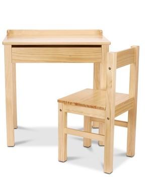 Melissa & Doug Wooden Lift-Top Desk and Chair Honey