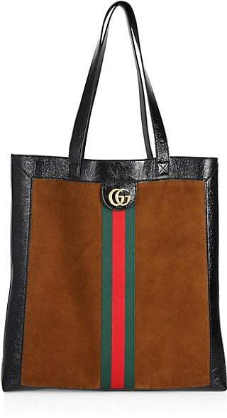 Gucci Suede Web Large Tote