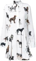 Stella McCartney dog print shirt dress - women - Silk - 42