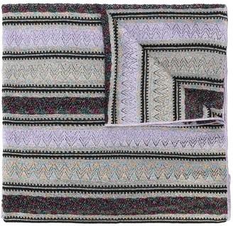 M Missoni Striped Oversized Scarf