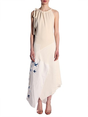 J.W.Anderson Birds Embroidered Asymmetric Dress