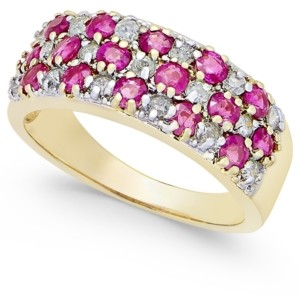 Macy's Ruby (1-5/8 ct. t.w.) and Diamond (1/3 ct. t.w.) Band in 14k Gold