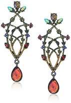 Betsey Johnson Surreal Forest -Color Chandelier Flower Drop Earrings