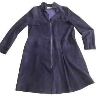 Marni Purple Suede Coats