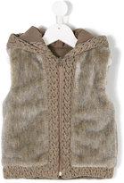 Lapin House furry detail jacket
