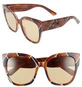Gucci Women's 55Mm Butterfly Sunglasses - Black Erbarium/ Grey