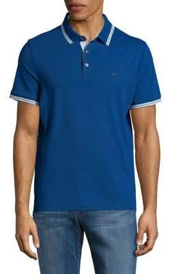 Michael Kors Stripe-Trim Polo Shirt