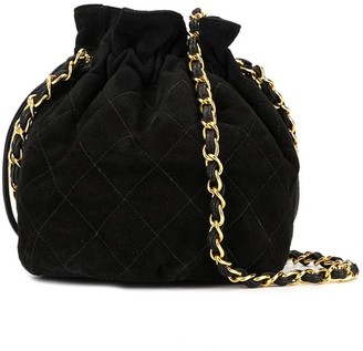 Chanel Pre Owned CC Drawstring Chain Shoulder Bag