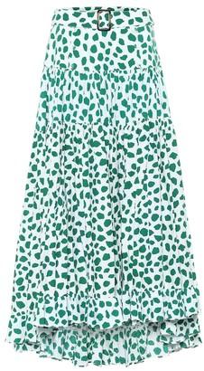 Alexandra Miro Exclusive to Mytheresa a Penelope leopard-print cotton maxi skirt