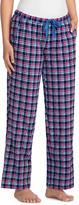 Hanes Navy Plaid Drawstring Pajama Pants