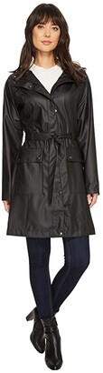 Ilse Jacobsen Lightweight True Rain Belted Trench Coat (Black) Women's Coat