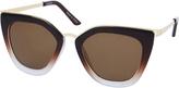 Accessorize Ombre Metal Cateye Sunglasses