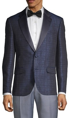 Karl Lagerfeld Paris Textured Slim-Fit Notch Lapel Jacket