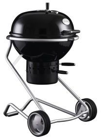 Rosle Charcoal Kettle Grill with Stainless Steel Frame, Black